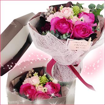 誕生日プレゼントにおすすめの香りのよい薔薇を箱に入れた花束