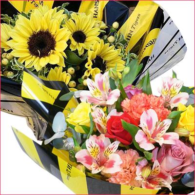 タイガーズ好きの誕生日プレゼントならタイガース認証ラッピングの花束