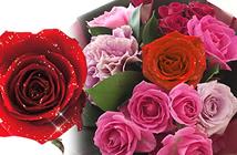 赤バラのハートアレンジメント